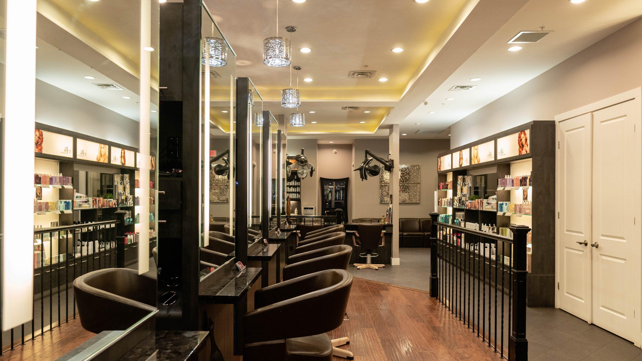 Hair Salon Mississauga Burlington Oakville Dolce Vita Hair Styling stations