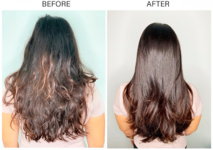 Before After Keratin Treatment Mississauga Oakville Best Hair Salon Dolce Vita